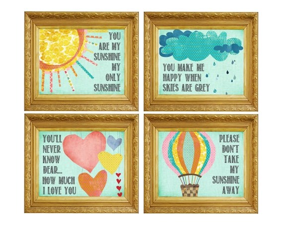 You Are My Sunshine Wall Decor you are my sunshine wall art nursery art wall art children