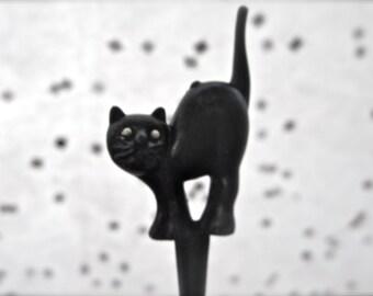 Halloween Black Cat Cupcake Toppers Novelty 1 Dozen