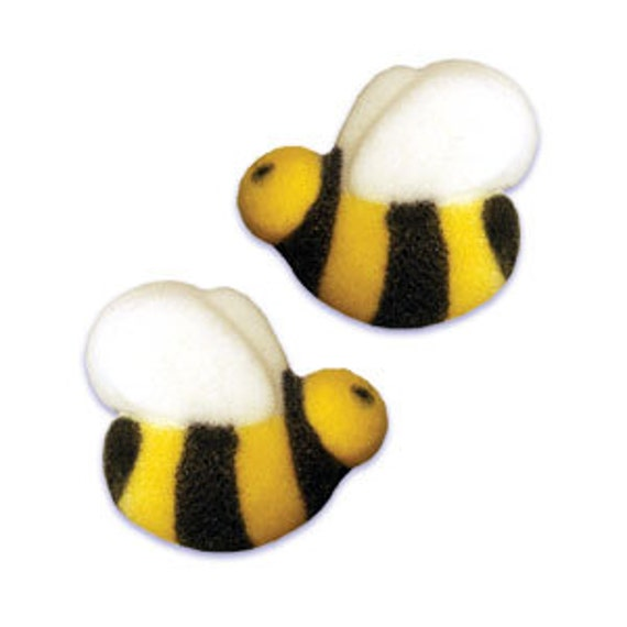 Honey Bee Sugar Cupcake Decorations 36