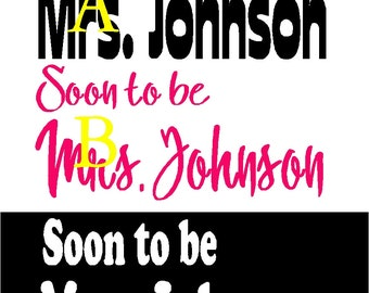 Soon to Be personalized wedding iron on shirt decal transfer