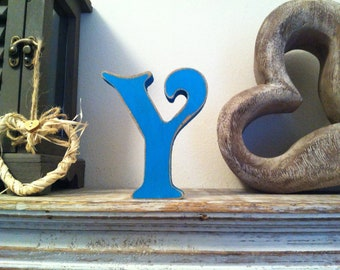 Freestanding Wooden Wedding Letter 'Y' - Various Finishes - 15cm - Victorian Style Font