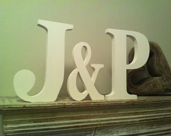 Personalised Wooden Wedding Letters - Painted any colour to match your Big Day, 15cm and 10cm