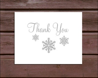 50 Snowflake Wedding Thank You Notes