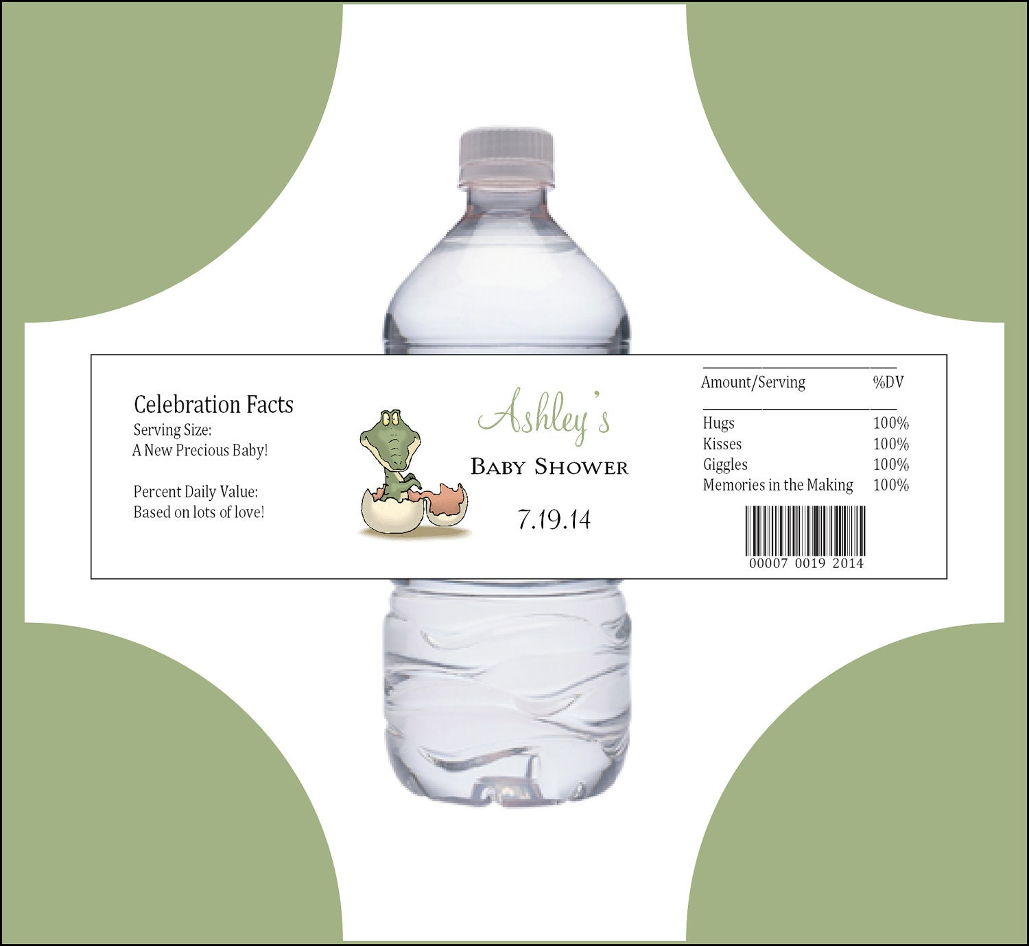 25 DINOSAUR Baby Shower water bottle labels Price includes