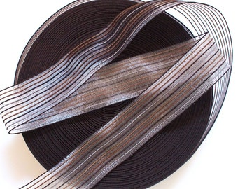 "2"" Bronzy Fishline Inspired Strips on Transparent Elastic Band"