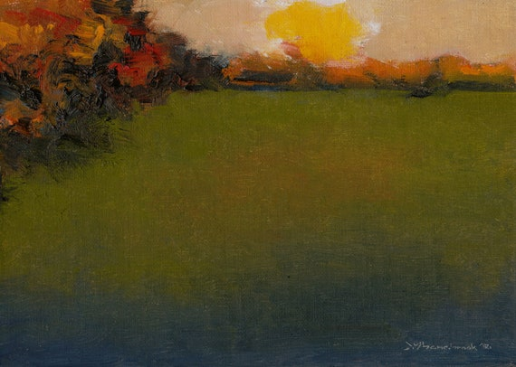 October's Meadow - Original Oil Painting
