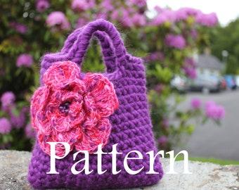 Little Girls Purple n Pink Purse - PDF crochet pattern