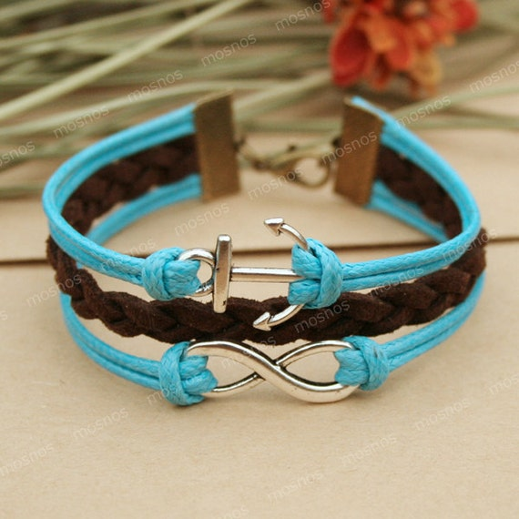 infinity bracelet blue anchor bracelet with infinity by. Black Bedroom Furniture Sets. Home Design Ideas
