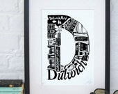 Best of Dulwich limited edition screenprint // London Letters series