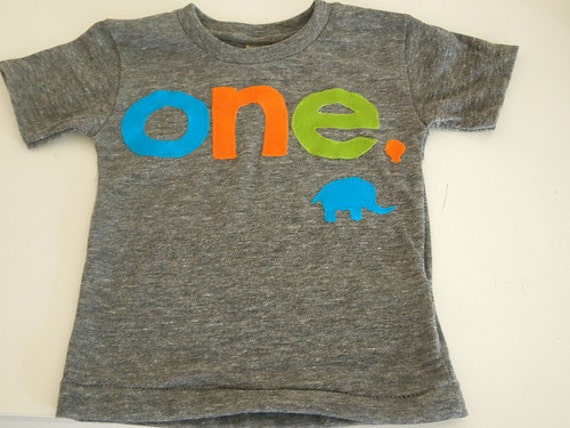 Elephant Birthday shirt Customize colors lime turquoise orange zoo theme birthday