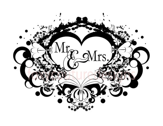 Items Similar To Mr And Mrs Vintage Filigree Heart Large