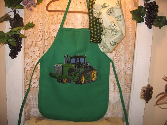 Little Boys John Deere Apron and Matching Chef's Hat