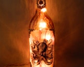 Octo Steampunk Luminary, lamp, night light, lantern by Christina Davis