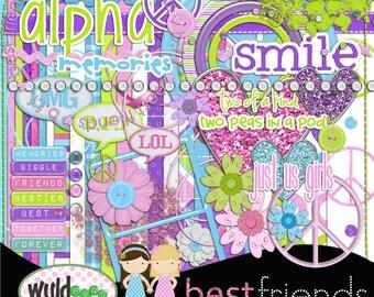Best Friends Digital Scrapbooking Kit