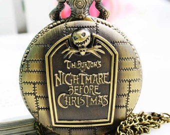 1pcs   Large City Christmas Night Watch Charms Pendant with chain Christmas Thanksgiving Valentine's Day gift
