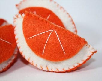 Oranges Felt Play Food