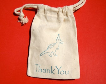 Dinosaur Favor Bags / Set of 24/Birthday Party Favor Bags