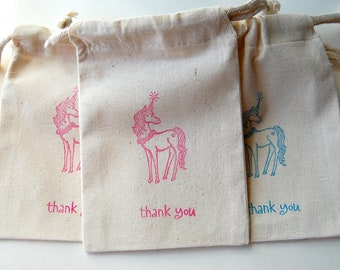 Unicorn Party Favor Bags / Set of 15 /Birthday Party Favor Bags