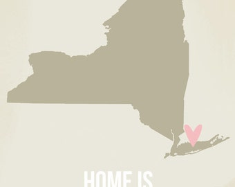 Customize New York Home is Art Print 8 x 10 inch Travel Map I heart USA SALE buy 2 get 3