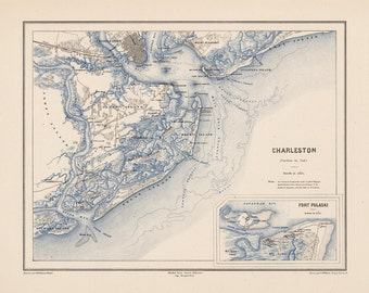 1875 Map of Charleston
