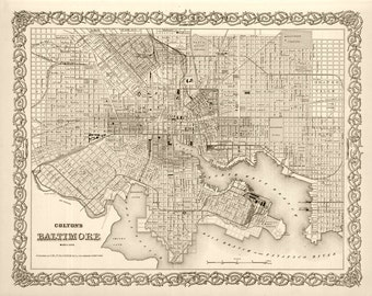 1886 Map of Baltimore