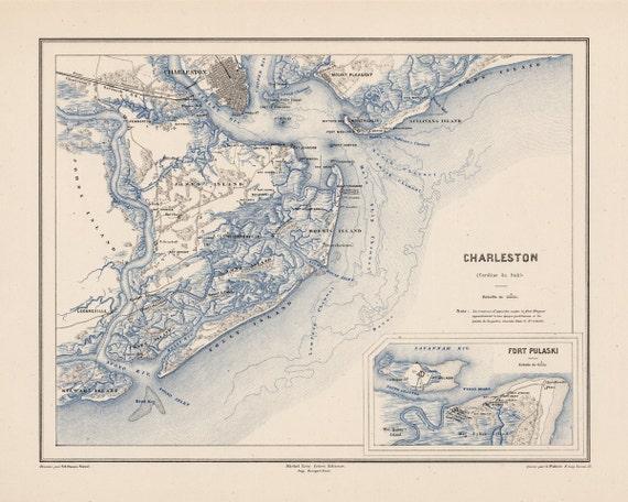 1875 Map Of Charleston