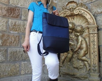 Customizable Conventional Laptop Backpack - 9 POCKETS - WATERPROOF lining - Fully PADDED - Customizable, can be  any color and / or size