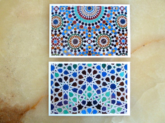 MOROCCAN MOSAIC- set of 2 photo prints - moroccan ornaments - moroccan traditional art - 4 x 6