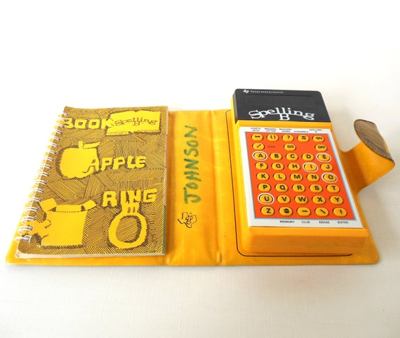 Texas Instruments Spelling B Bee Vintage 1970s Educational Toy
