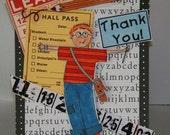 BACK to SCHOOL Little BOY Digital Stamp Art