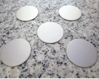 """MAGNETIC 7/8"""" (22MM) Round Brushed Finish Disc Stamping Blanks Golf Marker, 22g Stainless Steel - Silver Alternative MR07"""