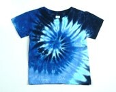Infant Tie-Dye Tee Shirt, Blue Spiral, Eco-friendly Dyeing