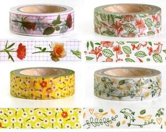 Washi Tape - Floral Designs - 24 inches long