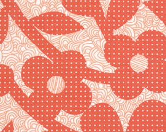 36105  Erin McMorris Weekends Dots and Loops in Red color- 1 yard