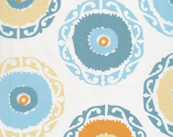 17002  Annette Tatum Bohemian  Collection Suzanie Round in Orange color- 1 yard