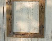 16x19 Carolina Driftwood rustic picture frame
