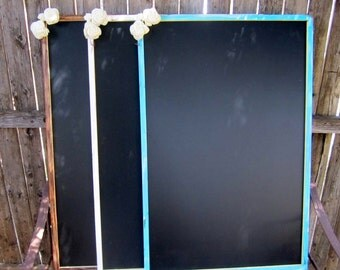 1-XXL Stain Washed Vintage Rustic Woodland Shabby Chic Chalkboard Wedding Message Menu Board