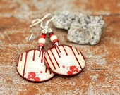 on SALE Halloween Jewelry blood stains Earrings Spooky  Whimsy  , Medium size 3cm Ø, gift for her under 20 (25)