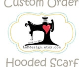 Reserved Listing for St0ickat Detachable Hooded Scarf in Black/White Brushed Hound to match HIP STASH