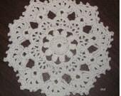 Crocheted White Doily (Item 012)
