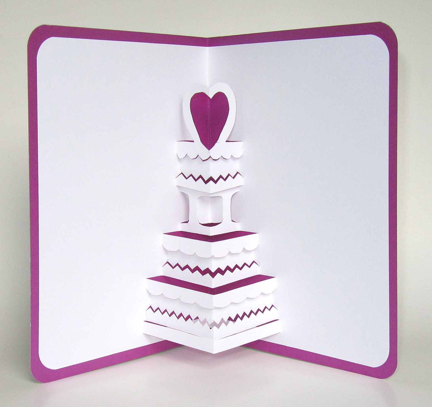 SAVE THE DATE Wedding Cake 3D Pop Up Greeting Card Valentines – Birthday Cake Pop Up Card Template