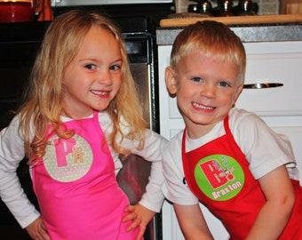 Set of 5 - Personalized Kids Christmas Apron