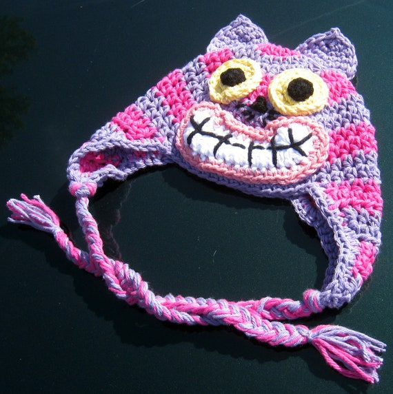 Items similar to Cheshire Cat Hat crochet Pattern on Etsy