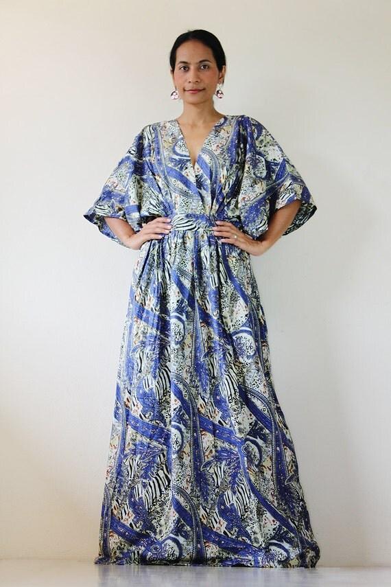 Boho Maxi Dress Kimono Women Kaftan Long Maxi Dress  Boho