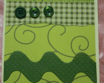 Card for Any Occasion in Shades of Green  20120418