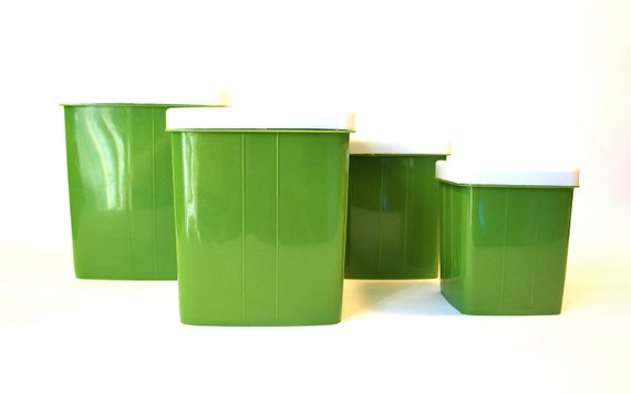 avocado green kitchen canister set of 4