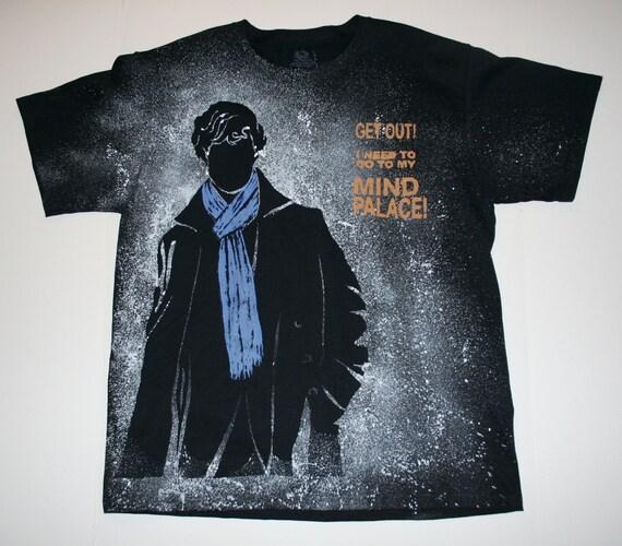 Men's Large - Sherlock - I am SHERlocked - Mind Palace - Black t-shirt