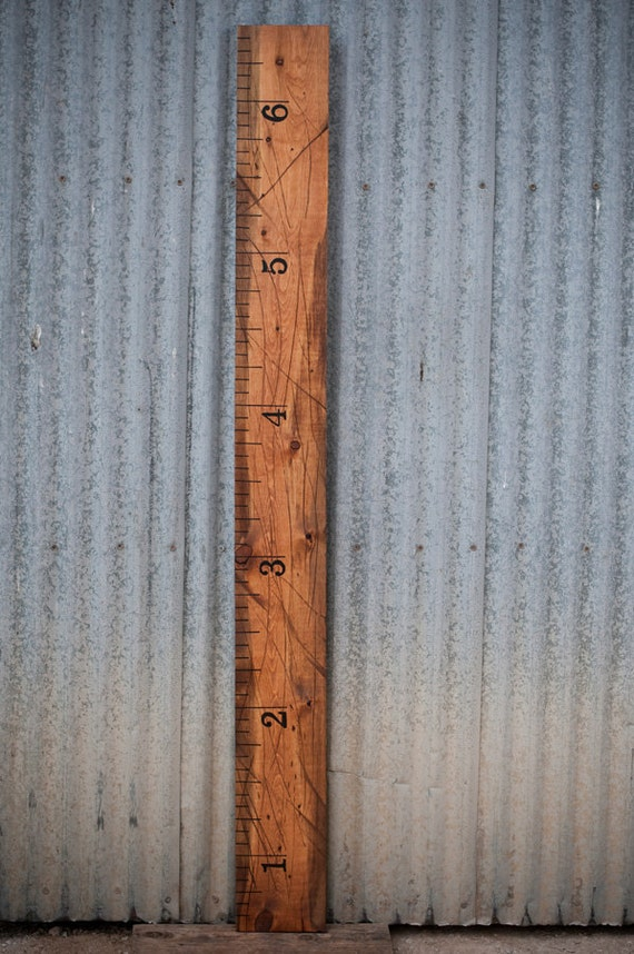Wood Children's Growth Chart Height Ruler