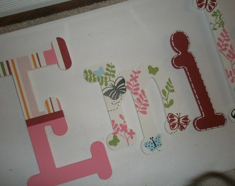 Alexis Garden - custom - hand painted - wooden wall letters for nursery