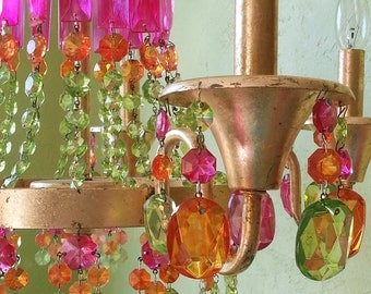 Chandelier, Crystal Gypsy, One of a Kind, 50% OFF -